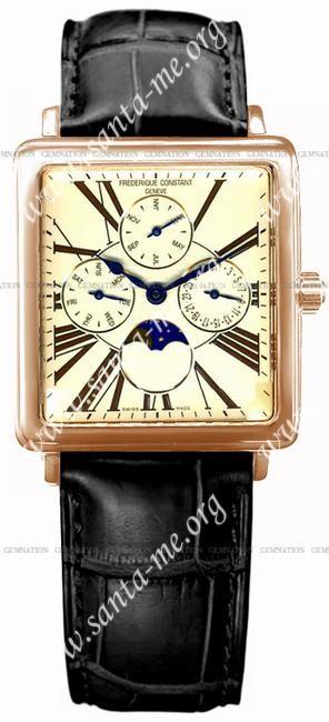 Frederique Constant Carree Moonphase Mens Wristwatch FC-265EM3C4