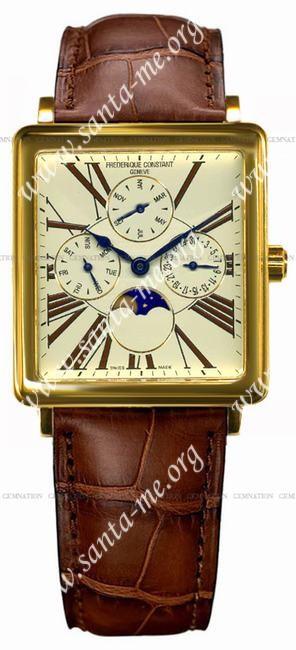 Frederique Constant Carree Moonphase Mens Wristwatch FC-265EM3C5