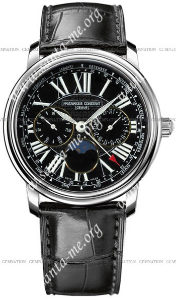 Frederique Constant Business Timer Mens Wristwatch FC-270B3P6