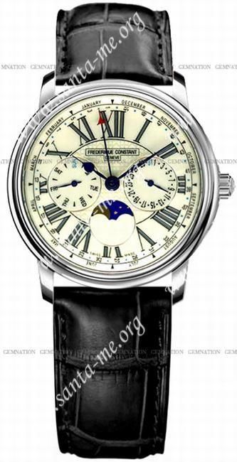 Frederique Constant Business Timer Mens Wristwatch FC-270EG3P6