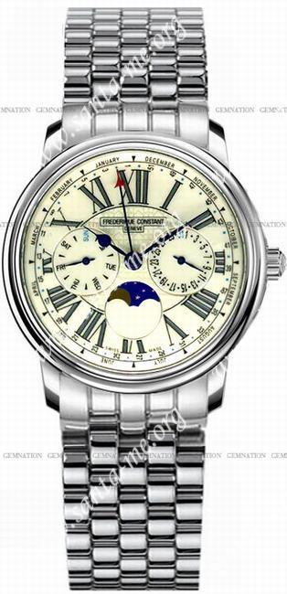 Frederique Constant Business Timer Mens Wristwatch FC-270EG3P6B