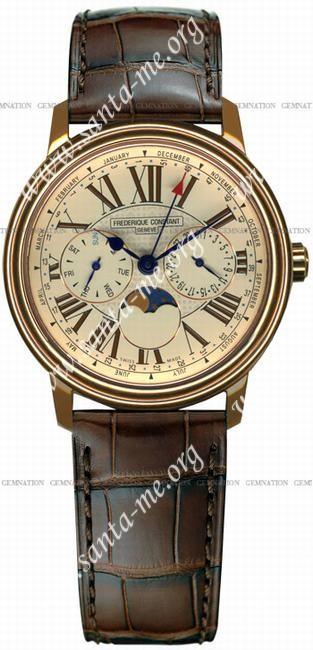 Frederique Constant Business Timer Mens Wristwatch FC-270EM3P4