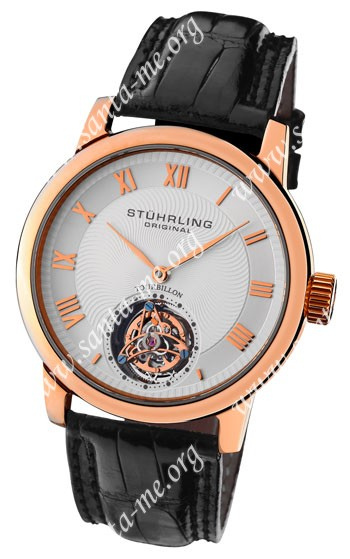 Stuhrling Kings Court Swiss Tourbillon Mens Wristwatch KCTRG