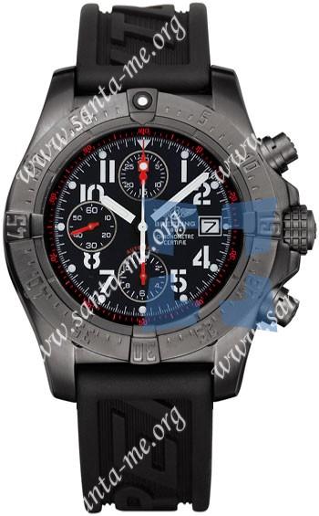 Breitling Avenger Skyland Black Steel Mens Wristwatch M1338010.B864-RBR