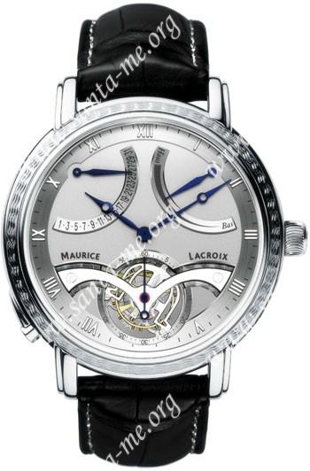 Maurice Lacroix Masterpiece Tourbillon Retrograde Mens Wristwatch MP7088-PL201-110