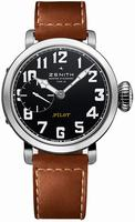 Zenith 40mm Pilot Montre d Aeronef Zenith Type 20 Mens Wristwatch 03.1930.681-21.C723