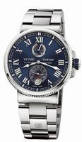 Ulysse Nardin Marine Chronometer Manufacture Mens Wristwatch 1183-126-7M/43
