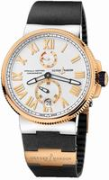 Ulysse Nardin Marine Chronometer Manufacture Mens Wristwatch 1185-122-3-41