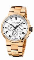 Ulysse Nardin Marine Chronograph Manufacture Mens Wristwatch 1506-150LE-8M