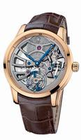 Ulysse Nardin Skeleton Tourbillon Manufacture Mens Wristwatch 1706-129