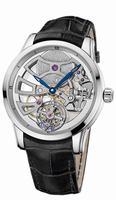 Ulysse Nardin Skeleton Tourbillon Manufacture Mens Wristwatch 1709-129