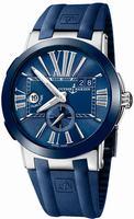 Ulysse Nardin Executive Dual Time Mens Wristwatch 243-00-3-43