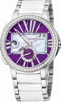 Ulysse Nardin Executive Dual Time Ladies Ladies Wristwatch 243-10B-7-30-07