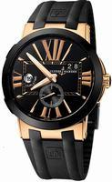 Ulysse Nardin Executive Dual Time Mens Wristwatch 246-00-3-42