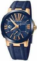 Ulysse Nardin Executive Dual Time Mens Wristwatch 246-00-3-43