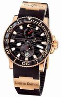 Ulysse Nardin Maxi Marine Diver Black Surf Mens Wristwatch 266-37LE-3A