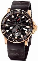 Ulysse Nardin Maxi Marine Diver Black Surf Mens Wristwatch 266-37LE-3B