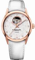 Raymond Weil Freelancer Automatic Open Balance Wheel Mens Wristwatch 2750-PC5-30081