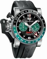 Graham Chronofighter Oversize GMT Steel  Mens Wristwatch 2OVGS.B12A