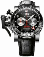 Graham Chronofighter Oversize GMT Steel  Mens Wristwatch 2OVGS.B39A