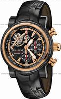 Graham Tourbillograph Silverstone Woodcote Mens Wristwatch 2TWAO.B01A.C104B