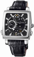 Ulysse Nardin Quadrato Dual Time Perpetual Mens Wristwatch 320-90.92