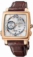 Ulysse Nardin Quadrato Dual Time Perpetual Mens Wristwatch 326-90.91