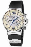 Ulysse Nardin Maxi Marine Chronograph Mens Wristwatch 353-66-3.314