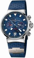 Ulysse Nardin Marine Blue Seal Chronograph Mens Wristwatch 353-68LE-3