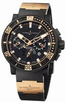Ulysse Nardin Black Sea Chronograph Mens Wristwatch 353-90-3