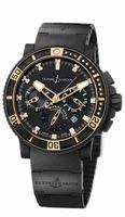 Ulysse Nardin Black Sea Chronograph Mens Wristwatch 353-90-3C
