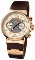 Ulysse Nardin Marine Chronograph Mens Wristwatch 356-66-3/354