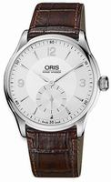Oris Artelier Hand Winding Small Second Mens Wristwatch 396.7580.4051.LS