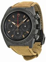 Tudor Fastrider Black Shield Chronograph Mens Wristwatch 42000CN-ALCANTARA