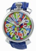 GaGa Milano Manual 48mm Mosaico Men Wristwatch 5010.M.BU