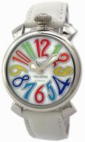 GaGa Milano Manual 40mm Steel Unisex Wristwatch 5020.1.WH