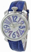 GaGa Milano Manual 40mm Steel Unisex Wristwatch 5020.3.BL
