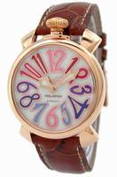 GaGa Milano Manual 40mm Gold Plated Unisex Wristwatch 5021.1.BR