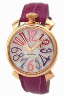 GaGa Milano Manual 40mm Gold Plated Unisex Wristwatch 5021.1.PK