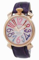 GaGa Milano Manual 40mm Gold Plated Unisex Wristwatch 5021.1.PU