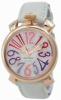 GaGa Milano Manual 40mm Gold Plated Unisex Wristwatch 5021.1.WH