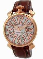 GaGa Milano Manual 40mm Gold Plated Unisex Wristwatch 5021.2.BR