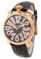 GaGa Milano Manual 40mm Gold Plated Unisex Wristwatch 5021.3.DBR