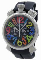 GaGa Milano Chronograph 48mm Men Wristwatch 5050.2.BK