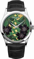 Patek Philippe Enamel Artwork Dial Unisex Wristwatch 5077P-096