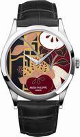 Patek Philippe Enamel Artwork Dial Unisex Wristwatch 5077P-098