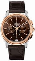 Zenith El Primero 36'000 VPH Captain Chronograph Mens Wristwatch 51.2112.400-75.C498