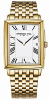 Raymond Weil Tradition Rectangular Date Mens Wristwatch 5456-P-00300