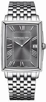 Raymond Weil Tradition Rectangular Date Mens Wristwatch 5456-ST-00608