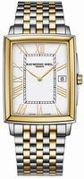Raymond Weil Tradition Rectangular Date Mens Wristwatch 5456-STP-00308